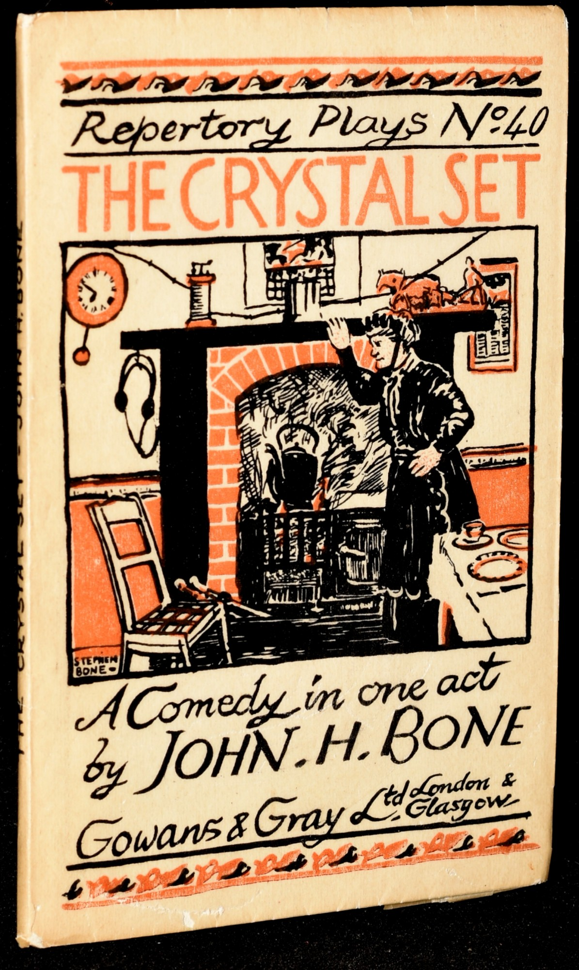 THE CRYSTAL SET: A Comedy in One Act Repertory Plays No  40 by John H  Bone  on Black Swan Books