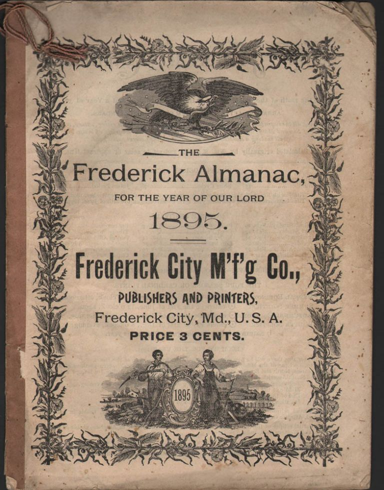 THE FREDERICK ALMANAC, for the Year of Our Lord 1895.