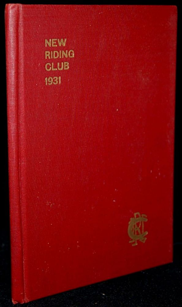 NEW RIDING CLUB: JUNE 1, 1931 (Rolls, By-Laws, Rules, and Members)