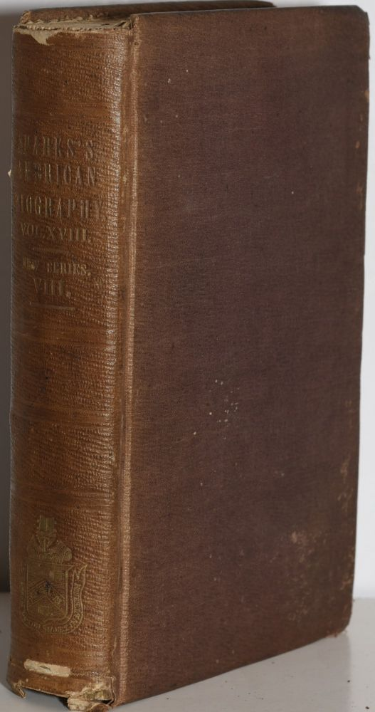 THE LIBRARY OF AMERICAN BIOGRAPHY, SECOND SERIES (Volume VIII): LIVES OF CHARLES LEE AND JOSEPH REED. Jared Sparks.