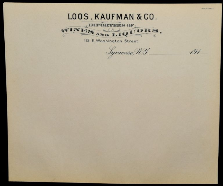 [BILLHEADS] LOOS, KAUFMAN & CO.