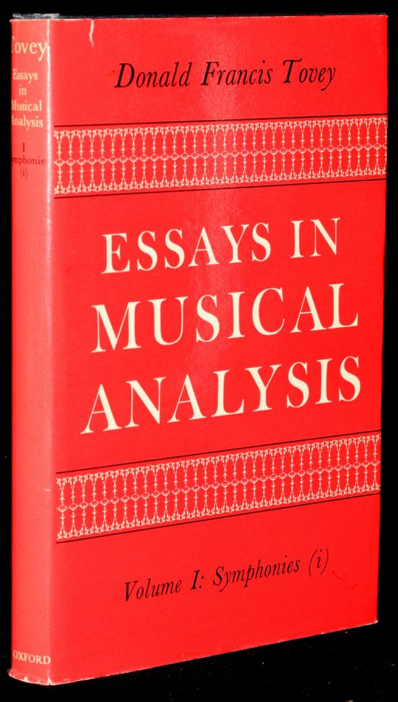 ESSAYS IN MUSICAL ANALYSIS. VOLUME I: SYMPHONIES (i). Donald Francis Tovey.