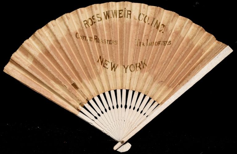 ADVERTISING FAN. ROSS W. WEIR COFFEE ROASTERS