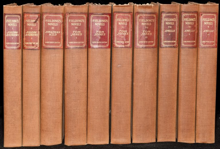 THE NOVELS OF HENRY FIELDING. LARGE-PAPER EDITION. Henry Fielding.