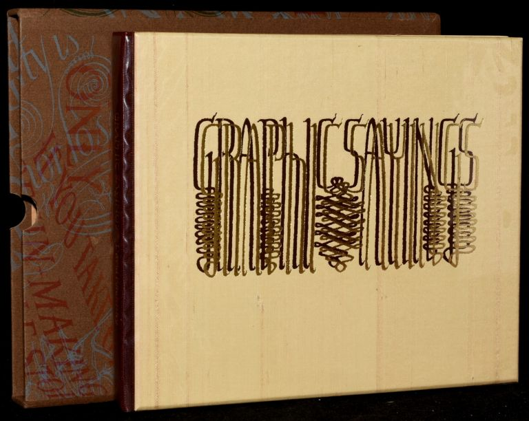 GRAPHIC SAYINGS [DELUXE COPY]. SPECIAL PRESS David Kindersley.