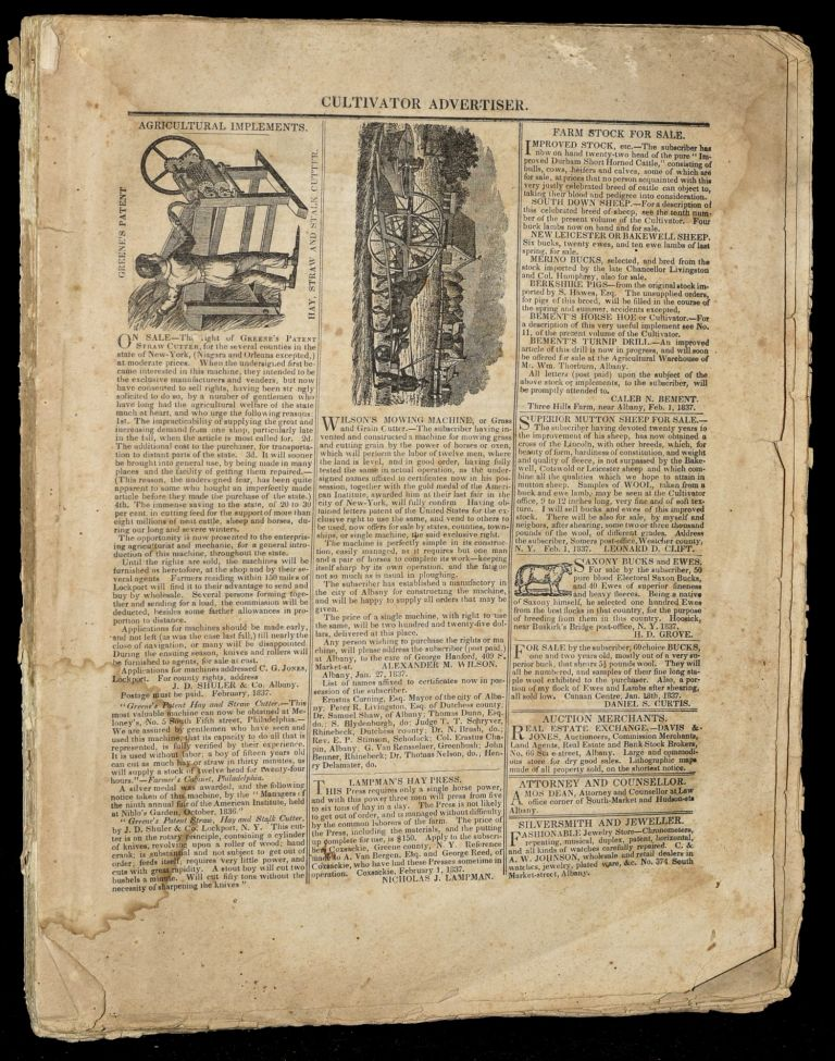 THE CULTIVATOR, A MONTHLY PUBLICATION, DESIGNED TO IMPROVE THE SOIL AND THE MIND. VOL. III. J. Buel.