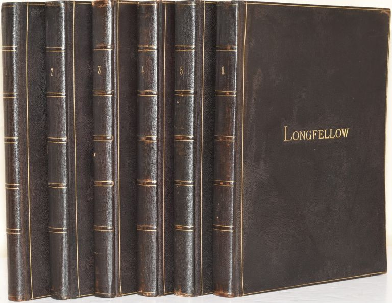 THE POETICAL WORKS OF HENRY WADSWORTH LONGFELLOW (6 Volumes). Henry Wadsworth Longfellow.