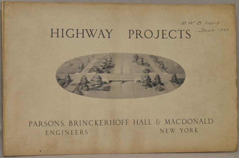 [GATHERING OF ENGINEERING PLANS] HIGHWAY PROJECTS. 10 SETS OF PLANS FOR HIGHWAY DEVELOPMENT PRIMARILY IN THE NORTHEAST. POST-WAR EXPANSION. Brinkerhoff Parsons, Hall, Macdonald.