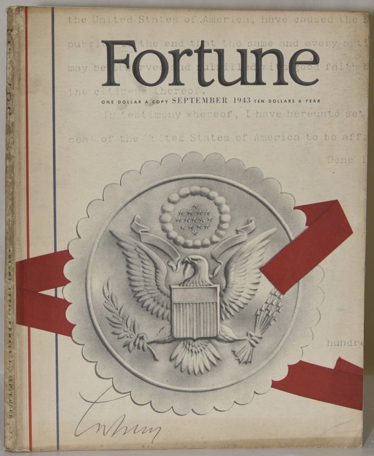FORTUNE. SEPTEMBER 1943. VOLUME XXVIII NUMBER 3.