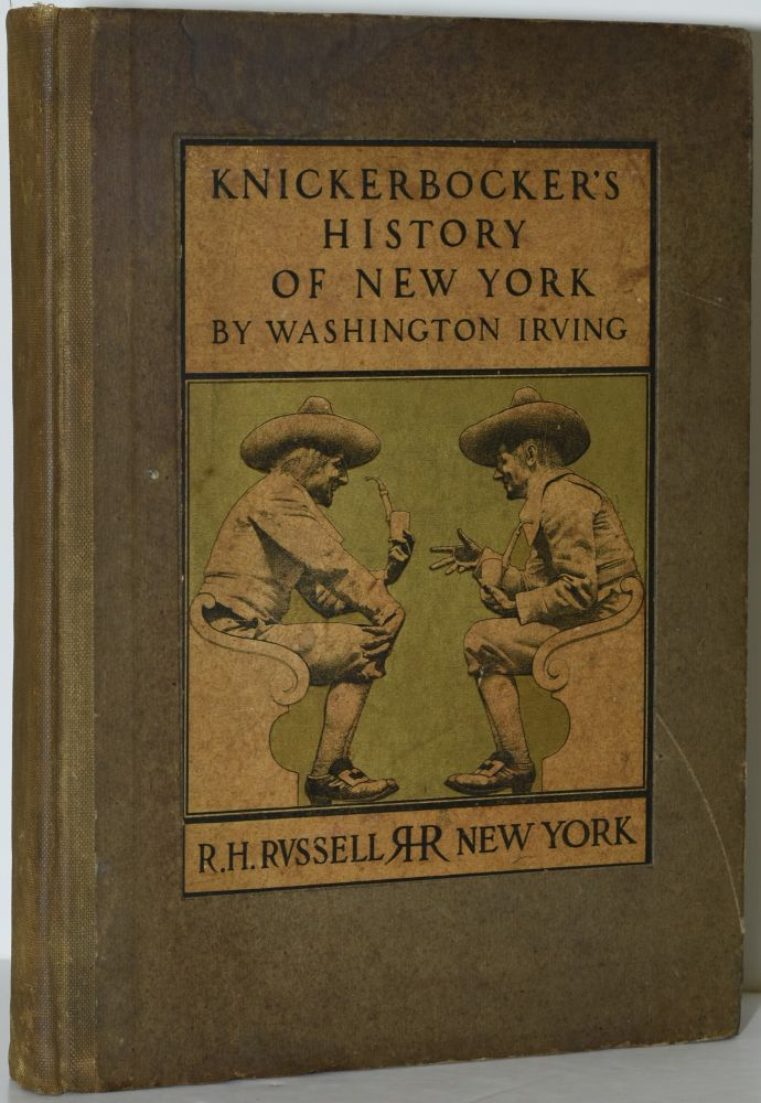 A HISTORY OF NEW YORK. FROM THE BEGINNING OF THE WORLD TO THE END OF THE DUTCH DYNASTY. Diedrich Knickerbocker | Maxfield Parrish, Washington Irving.