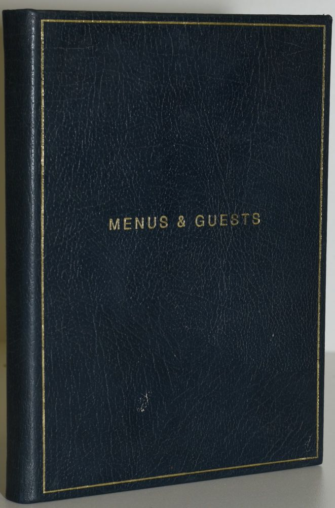 MENU & DINNER PARTY PLANNING BOOK. 1990's