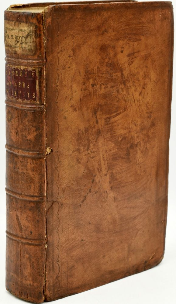 AN ESSAY ON THE NATURE AND LAWS OF USES AND TRUSTS. INCLUDING A TREATISE ON CONVEYANCES AT COMMON LAW; AND THOSE DERIVING THEIR EFFECT FROM THE STATUTE OF USES. Francis Williams Sanders.