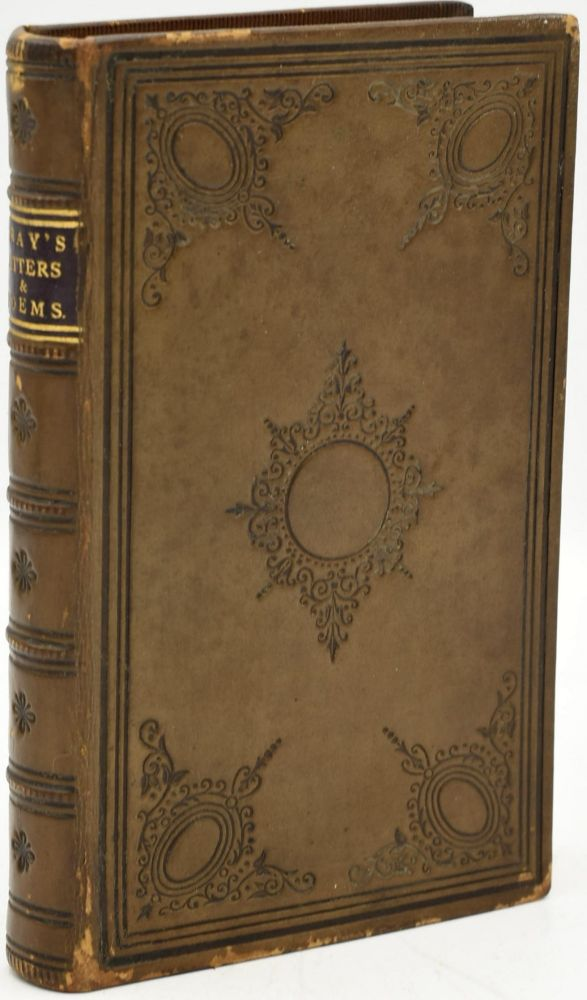 GRAY'S LETTERS & POEMS, WITH A LIFE OF THE AUTHOR. Thomas Gray.