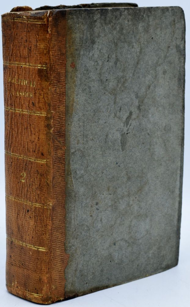 POLITICAL CLASSICS. VOL. II. DISCOURSES ON GOVERNMENT. BY ALGERNON SYDNEY. WITH HIS LETTER, &C. Algernon Sydney, Sidney.