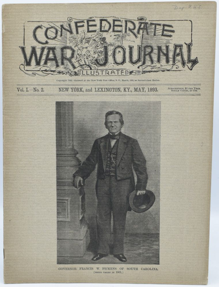CONFEDERATE WAR JOURNAL, ILLUSTRATED. VOL. I. NO. 2. NEW YORK AND LEXINGTON, KY. MAY 1893.
