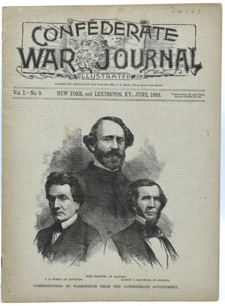CONFEDERATE WAR JOURNAL, ILLUSTRATED. VOL. I. NO. 3. NEW YORK AND LEXINGTON, KY. JUNE 1893.