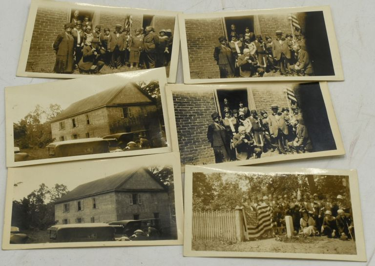 FOUR SNAPSHOTS AND TWO DUPLICATES, OF THE UNVEILING OF THE MARKER FOR 2ND LIEUTENANT SAMUEL WATKINS AT PETERVILLE CHURCH IN POWHATAN COUNTY, ON 13 JUNE 1928.