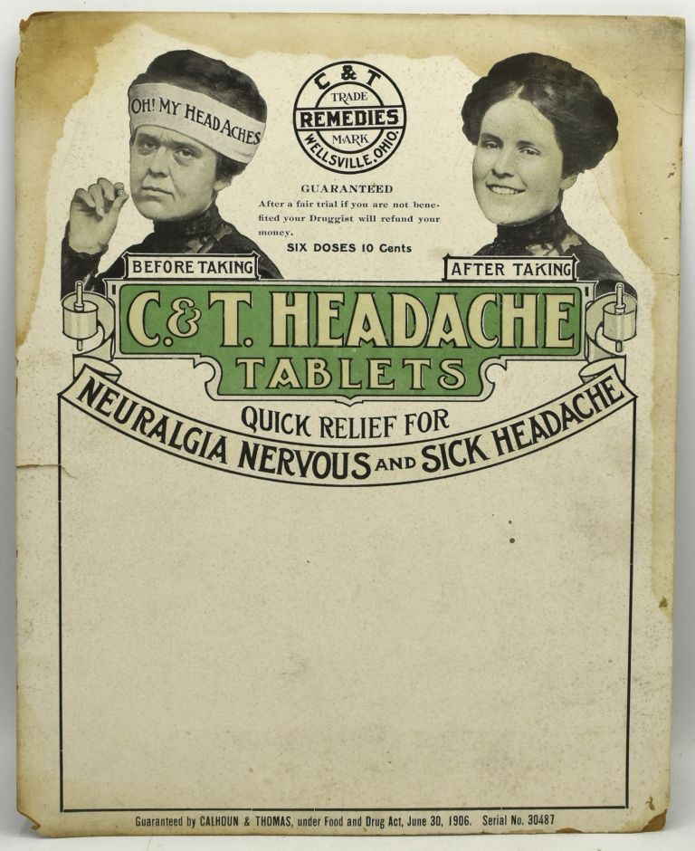 [ADVERTISING SIGN] C. &. T. HEADACHE TABLETS