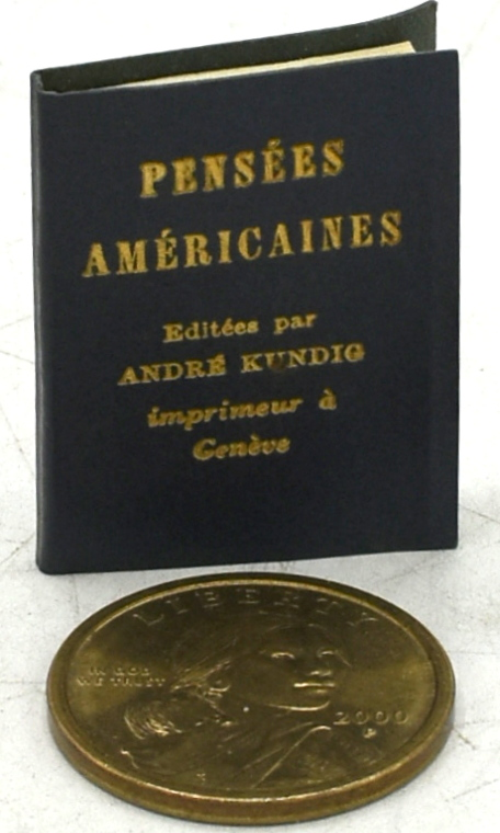 PENSEES AMERICAINES.