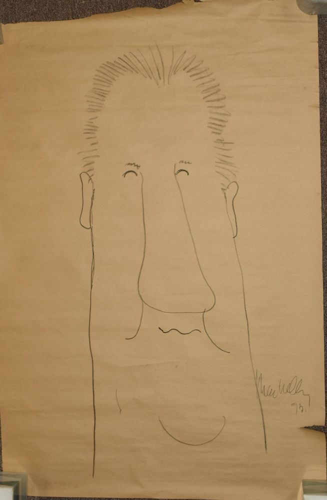 [ORIGINAL DRAWING] CARICATURE DRAWING OF SPIRO AGNEW. Jeff MacNelly.