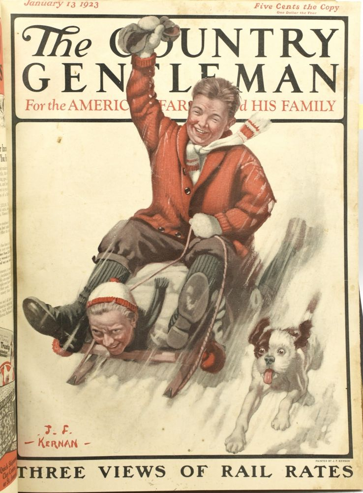 THE COUNTRY GENTLEMAN, FOR THE AMERICAN FARMER AND HIS FAMILY. VOL. LXXXVIII, NO. 1, JANUARY 6, 1923; THROUGH NO. 17, APRIL 28, 1923. (SEVENTEEN CONTINUOUS ISSUES TOGETHER IN ONE VOLUME)