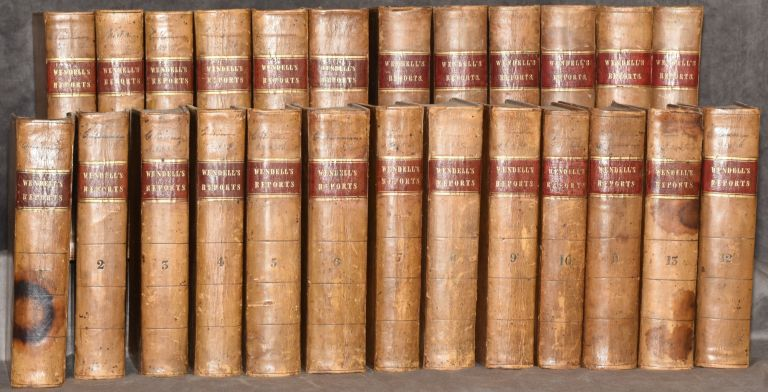 Reports of cases argued and determined in the Supreme Court of Judicature, and in the Court for the Trial of Impeachments and the Correction of Errors of the state of New York (25 Volumes; Set). John L. Wendell.