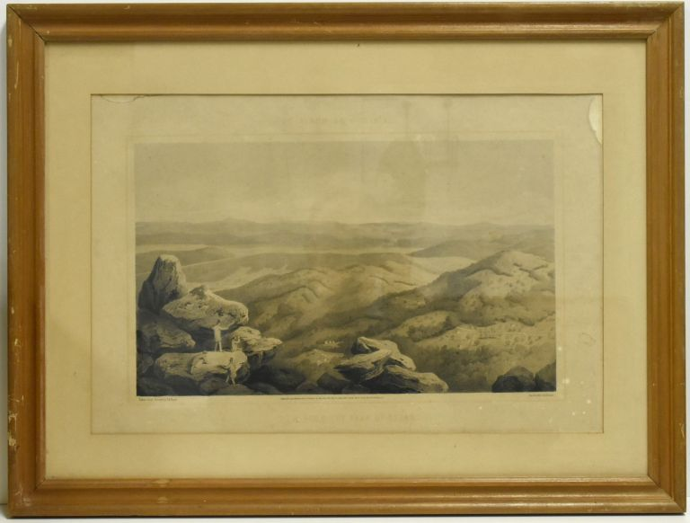 [PRINT] ALBUM OF VIRGINIA. VIEW FROM THE PEAK OF OTTER. Edward Beyer.