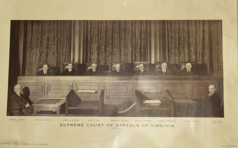 [PHOTOGRAPH] SUPREME COURT OF APPEALS OF VIRGINIA. 1941