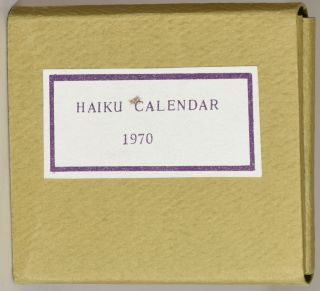 A CALENDAR OF HAIKU: A SEASONAL DIALOGUE. Ankenbrand Jr., Frank.