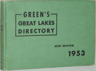 GREEN'S GREAT LAKES DIRECTORY: 45th Edition. M. E. Green