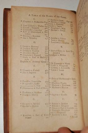 REPORTS OF CASES, Upon Appeals and Writs of Error, in the High Court of Parliament; From the Year 1701, to the Year 1779 with Tables, Notes, and References. (7 Volume Set); Vol I; Vol II; Vol III; Vol IV; Vol V; Vol VI; Vol VII
