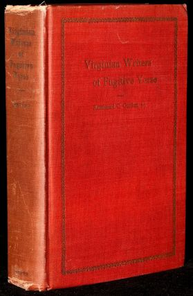 VIRGINIAN WRITERS OF FUGITIVE VERSE. Armistead C. Gordon Jr., Ph D., M. A., Thomas Nelson Page,...