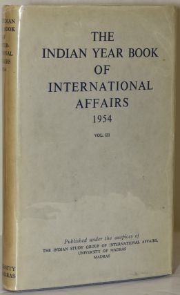 THE INDIAN YEAR BOOK OF INTERNATIONAL AFFAIRS: 1954. Charles Henry Alexandrowicz