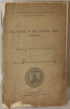SOIL SURVEY OF THE LEESBURG AREA, VIRGINIA. William T. Carter Jr., W. S. Lyman