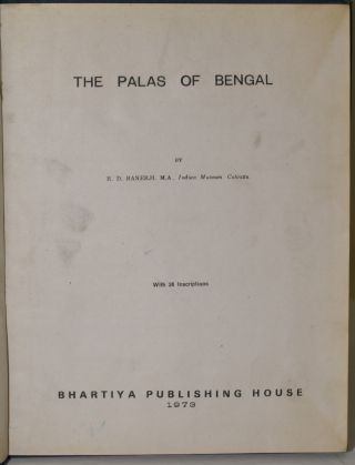 THE PALAS OF BENGAL. R. D. Banerji, M. A., Calcutta Indian Museum