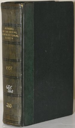 JOURNAL OF THE ROYAL HORTICULTURAL SOCIETY Vol. LXII. 1937. F. J. Chittenden, V. M. H., F. L. S