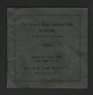 AN AUXILIARY RANGE CORRECTOR SCALE FOR INFANTRY. 28th Infantry Capt. H. E. Eames