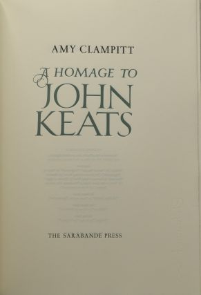 A HOMAGE TO JOHN KEATS