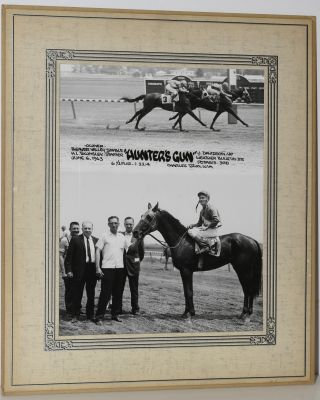 "RACEHORSE ""HUNTER'S GUN"". ORIGINAL PHOTO."