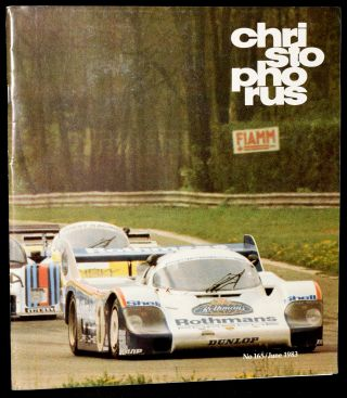 CHRISTOPHORUS. THE PORSCHE MAGAZINE. NO. 165, JUNE 1983