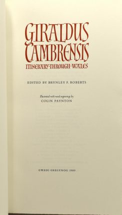 GIRALDUS CAMBRENSIS ITINERARY THROUGH WALES