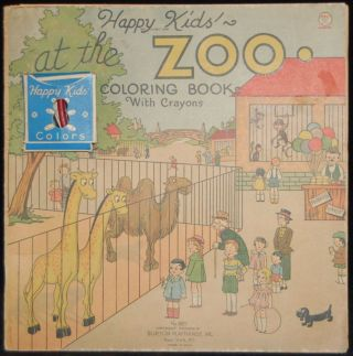 HAPPY KIDS' AT THE ZOO COLORING BOOK