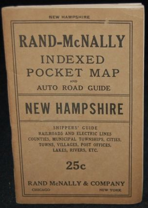 RAND-McNALLY INDEXED POCKET MAP AND SHIPPERS' GUIDE OF NEW HAMPSHIRE