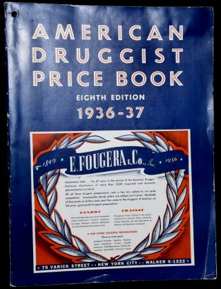 AMERICAN DRUGGIST PRICE BOOK 1936-1937 (EIGHTH EDITION