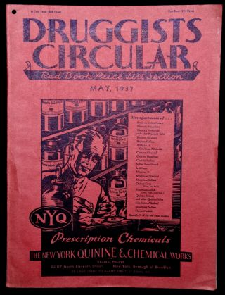 THE DRUGGISTS' CIRCULAR. RED BOOK PRICE LIST SECTION. MAY, 1937. VOLUME LXXXI NO. 5.