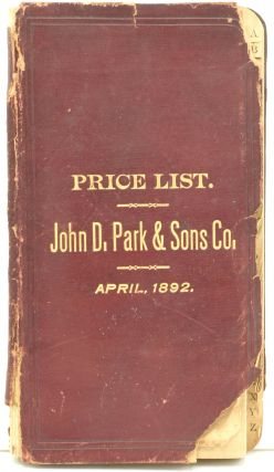 JOHN D. PARK & SONS CO.'S PRICE-LIST OF PROPRIETARY ARTICLES