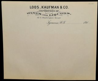 BILLHEADS] LOOS, KAUFMAN & CO