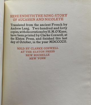 THE SONG-STORY OF AUCASSIN AND NICOLETE. TRANSLATED FROM THE ANCIENT FRENCH BY ANDREW LANG.