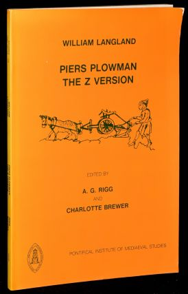 PIERS PLOWMAN: THE Z VERSION. William Langland | A. G. Rigg, Charlotte Brewer