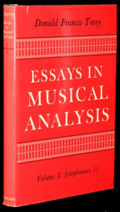 ESSAYS IN MUSICAL ANALYSIS. VOLUME I: SYMPHONIES (i). Donald Francis Tovey